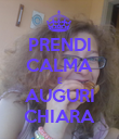 PRENDI CALMA E AUGURI CHIARA - Personalised Large Wall Decal