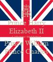 Prince Harry Elizabeth II Catherine Middleton Prince William Prince Charles - Personalised Poster large