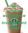 product experience and involvement ideas - Personalised Poster large