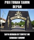 PUJI TUHAN TAHUN DEPAN SAYA BERADA DI TEMPAT INI SEBAGAI TARUNI! - Personalised Poster large