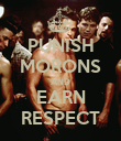 PUNISH MORONS AND EARN RESPECT - Personalised Poster large