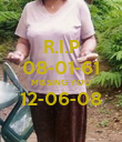 R.I.P 08-01-61 MISSING YOU 12-06-08  - Personalised Poster large