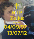 R.I.P Zelius Venter 04/09/97 - 13/07/12 - Personalised Poster large