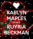 RAELYN MAPLES LOVES KUYRIA BECKMAN - Personalised Poster large