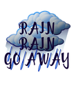 RAIN RAIN GO AWAY - Personalised Poster large