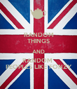 RANDOM THINGS AND RANDOM  PEOPLES LIKE FONZY - Personalised Poster large