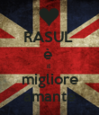 RASUL  è  il  migliore amante - Personalised Large Wall Decal