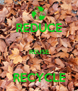 REDUCE  REUSE  RECYCLE - Personalised Poster large