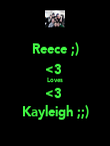 Reece ;) <3  Loves <3  Kayleigh ;;) - Personalised Poster large