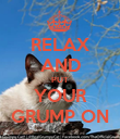 RELAX AND PUT YOUR GRUMP ON - Personalised Poster large