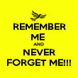 REMEMBER ME  AND  NEVER FORGET ME!!! - Personalised Poster large