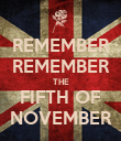 REMEMBER REMEMBER THE FIFTH OF NOVEMBER - Personalised Poster large