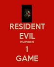 RESIDENT EVIL NUMBER 1 GAME - Personalised Poster large