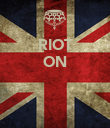 RIOT ON    - Personalised Poster large