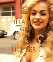 RITABOTS GET  ORA TO NUMBER 1 - Personalised Poster large