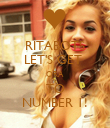 RITABOTS LET'S GET  ORA TO NUMBER 1! - Personalised Poster large