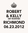 ROBERT & KELLY GET MARRIED RICHMOND 06.23.2012 - Personalised Poster large