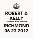 ROBERT & KELLY Gilmore Park United RICHMOND 06.23.2012 - Personalised Poster large