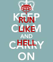 RUN LIKE  HELL  - Personalised Poster large
