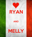 RYAN  AND  MELLY - Personalised Poster large