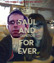SAÚL AND GEPETOS FOR  EVER - Personalised Poster large