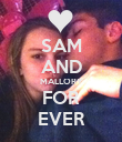 SAM AND MALLORY FOR EVER - Personalised Poster large