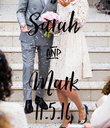 Sarah & Mark 11.5.16 - Personalised Poster large