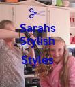 Sarahs Stylish  Styles  - Personalised Poster large