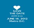SAVE THE DATE JOHN & LIZ JUNE 16, 2012 Metro D.C. - Personalised Poster large
