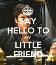 SAY HELLO TO MY  LITTLE FRIEND - Personalised Poster large