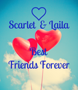 Scarlet  & Laila  Best Friends Forever  - Personalised Poster large