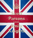 Scott Parsons Loves Emily Knights - Personalised Poster large