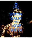 SCREW CALM AND LOVE SHETU - Personalised Poster large