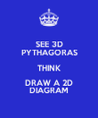 SEE 3D PYTHAGORAS THINK DRAW A 2D DIAGRAM - Personalised Poster large