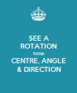 SEE A ROTATION THINK CENTRE, ANGLE & DIRECTION - Personalised Poster large