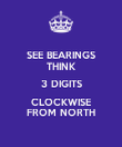 SEE BEARINGS THINK 3 DIGITS CLOCKWISE FROM NORTH - Personalised Poster large