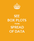 SEE  BOX PLOTS THINK SPREAD OF DATA - Personalised Poster large