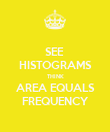 SEE  HISTOGRAMS THINK AREA EQUALS FREQUENCY - Personalised Poster large