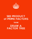 SEE PRODUCT of PRIME FACTORS THINK DRAW A FACTOR TREE - Personalised Poster large