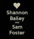 Shannon Bailey and Sam Foster - Personalised Poster large