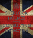 SHERLOCK HOLMES the only CONSULTING DETECTIVE - Personalised Poster large