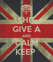 SHIT GIVE A AND CALM KEEP  - Personalised Poster large