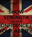 SHOW STRENGTH AND HAVE CONFIDENCE IN YOUR ABILITY! - Personalised Poster large
