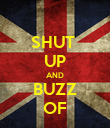 SHUT  UP AND BUZZ OF - Personalised Poster large