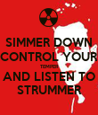 SIMMER DOWN CONTROL YOUR TEMPER AND LISTEN TO STRUMMER - Personalised Poster large