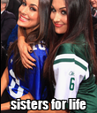 sisters for life - Personalised Poster large