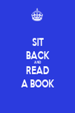 SIT BACK AND READ A BOOK - Personalised Poster large