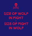 SIZE OF WOLF IN FIGHT ≠ SIZE OF FIGHT IN WOLF - Personalised Poster large
