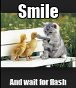 Smile And wait for flash - Personalised Poster large