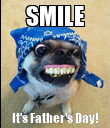 SMILE It's Father's Day! - Personalised Poster large